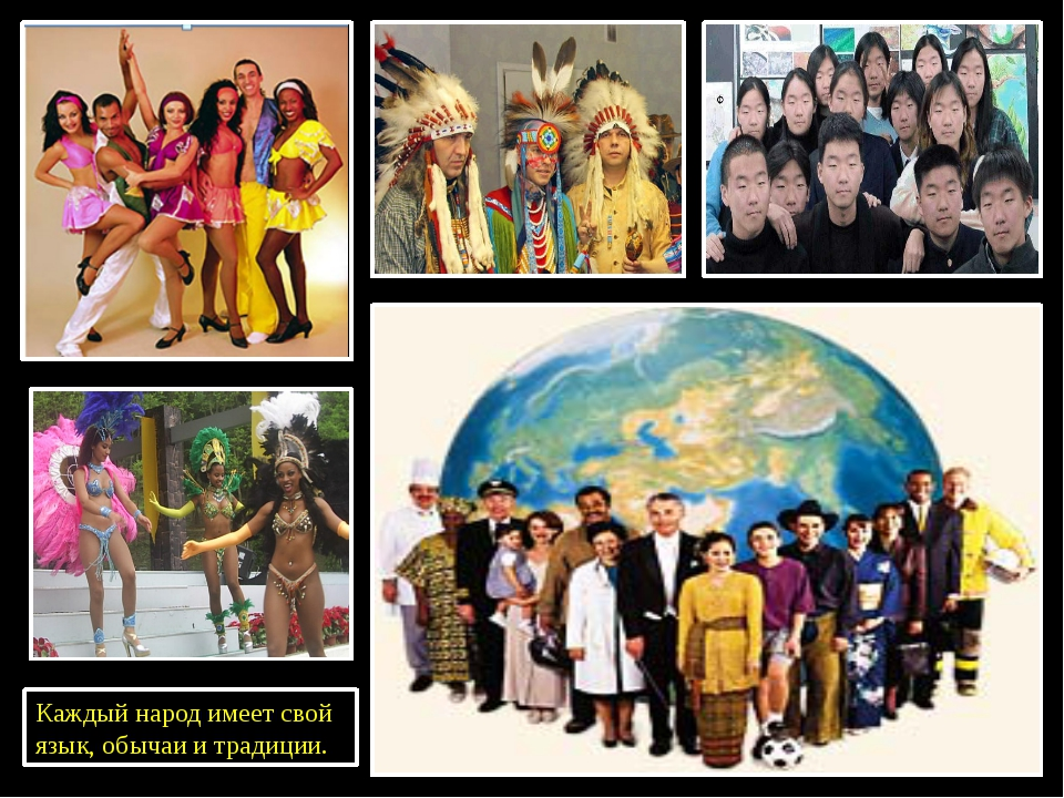 Каждый народ имеет свой язык, обычаи и традиции.