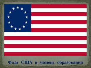 Флаг США в момент образования