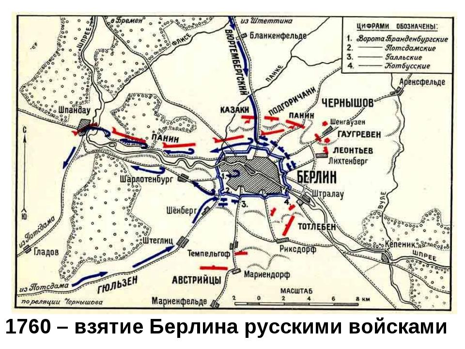 1760 – взятие Берлина русскими войсками
