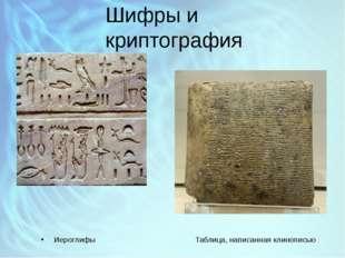 Шифры и криптография Иероглифы Таблица, написанная клинописью