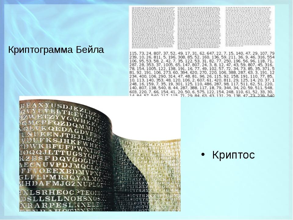 Криптограмма Бейла Криптос