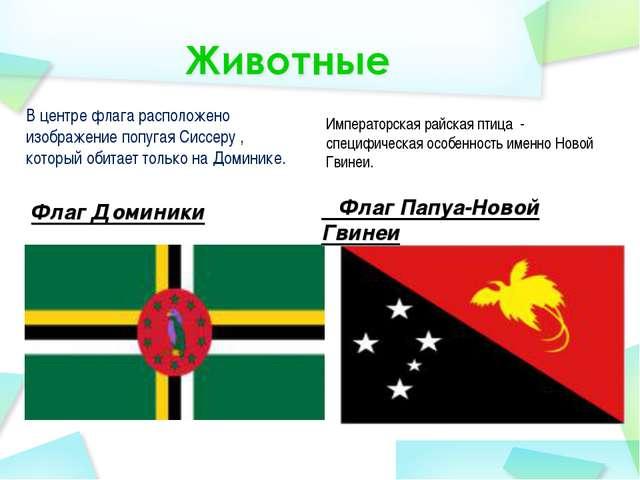 В центре флага расположено изображение попугая Сиссеру , который обитает толь...