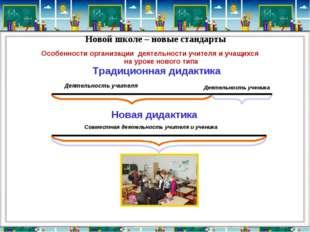Традиционная дидактика Деятельность учителя Новая дидактика Новой школе – нов