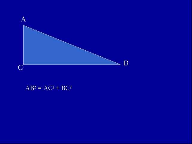 AB² = AC² + BC²