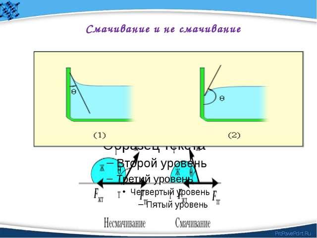 Смачивание и не смачивание ProPowerPoint.Ru