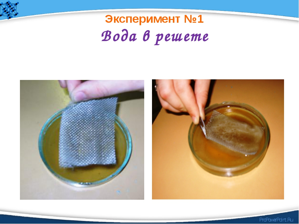 Вода в решете Эксперимент №1 ProPowerPoint.Ru