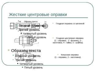 Жесткие центровые оправки Гладкая оправка со шпонкой Гладкая центровая оправк
