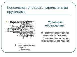 Консольная оправка с тарельчатыми пружинами Условные обозначения: R - радиус