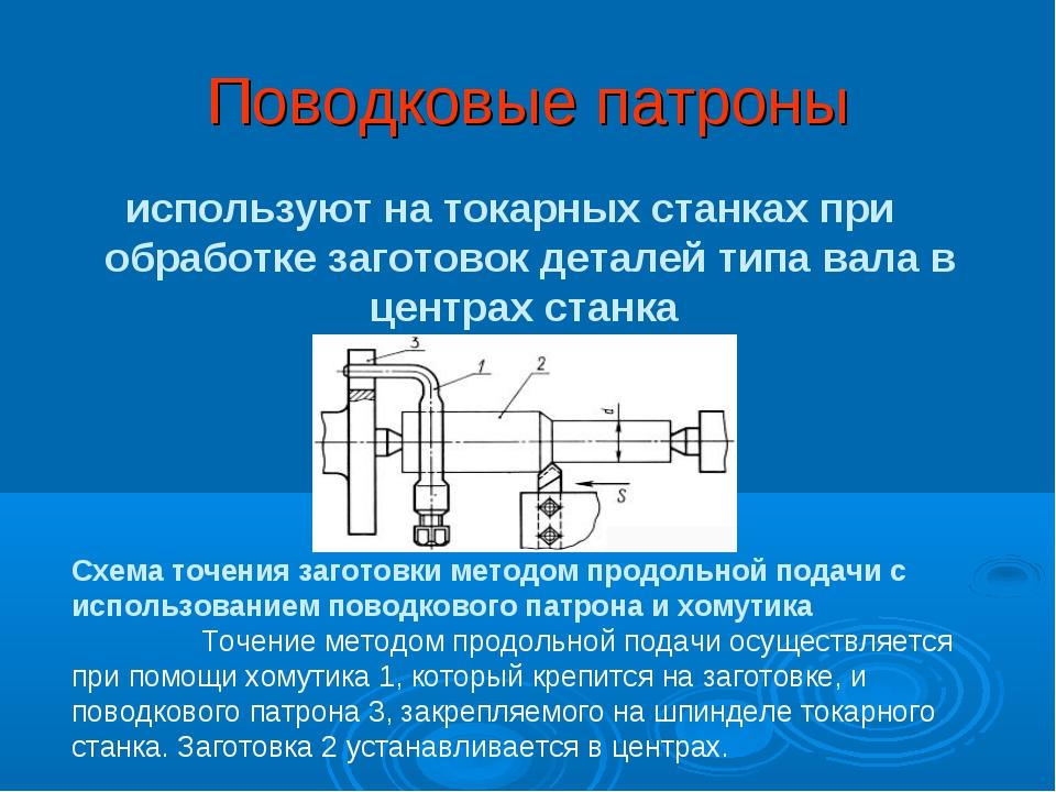 Поводковые патроны используют на токарных станках при обработке заготовок дет...