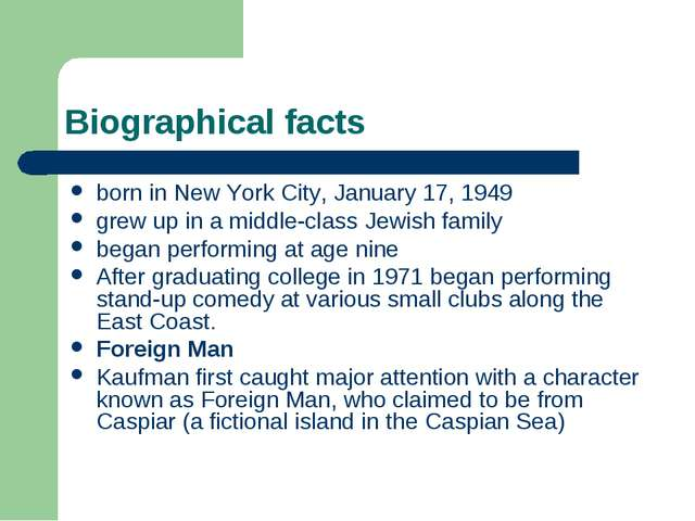 Biographical facts born in New York City, January 17, 1949 grew up in a middl...