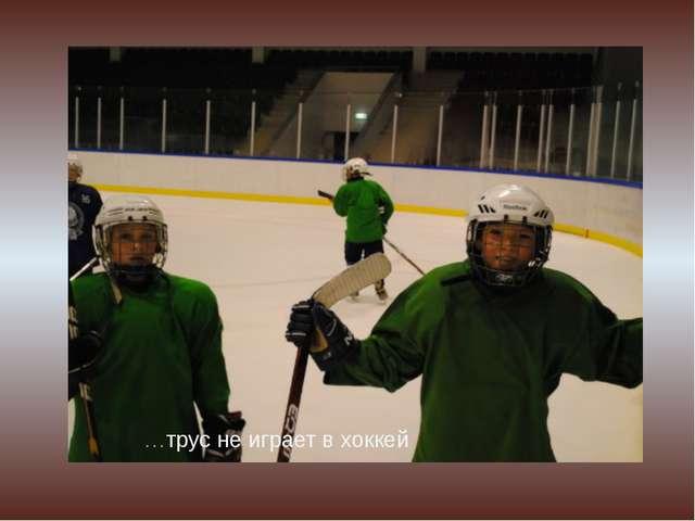 …трус не играет в хоккей