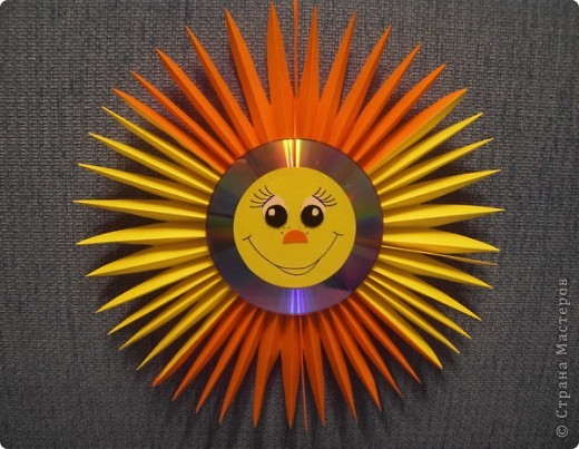 Солнышко из бумаги своими руками фото