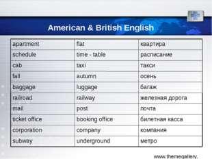 American & British English метро underground subway компания company corporat