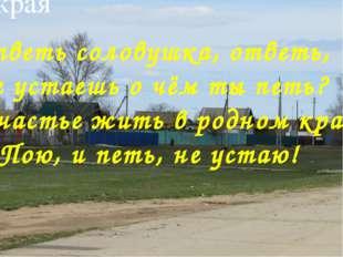 Виртуальная экскурсия по истории родного края «Здесь мое село, и я отсюда род