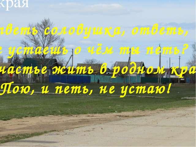 Виртуальная экскурсия по истории родного края «Здесь мое село, и я отсюда род...