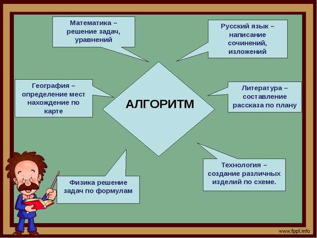 Литература – составление рассказа по плану Физика решение задач по формулам...