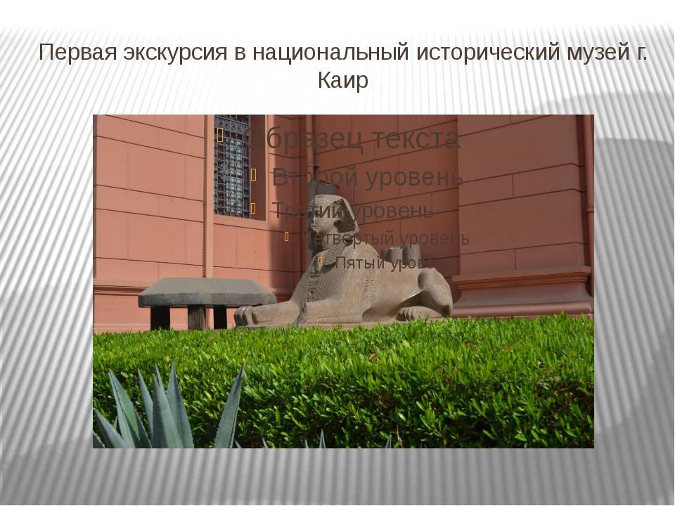 Первая экскурсия в национальный исторический музей г. Каир
