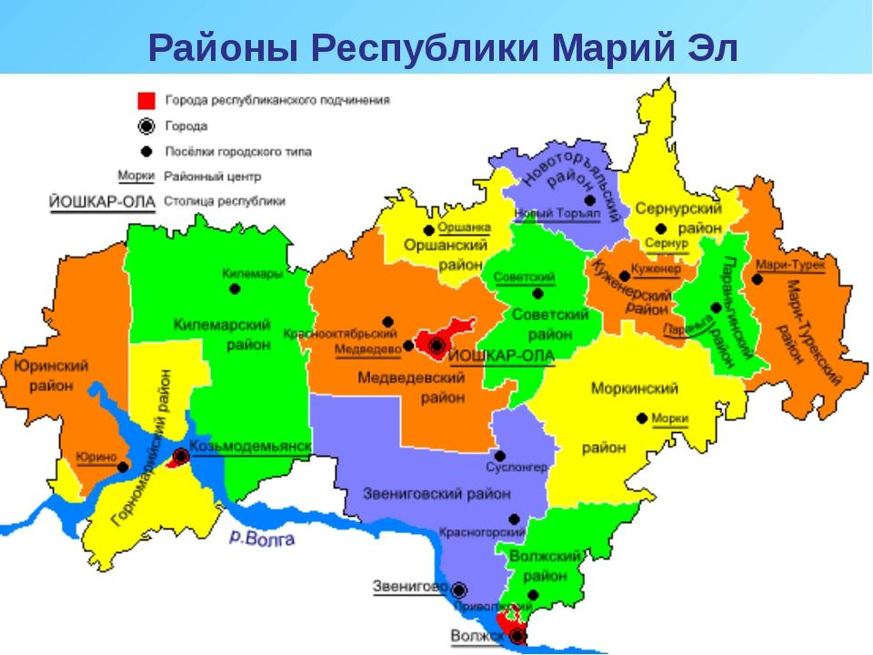 Районы Республики Марий Эл