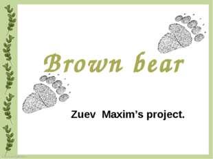 Brown bear Zuev Maxim's project. FokinaLida.75@mail.ru