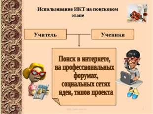 Учитель Ученики Использование ИКТ на поисковом этапе