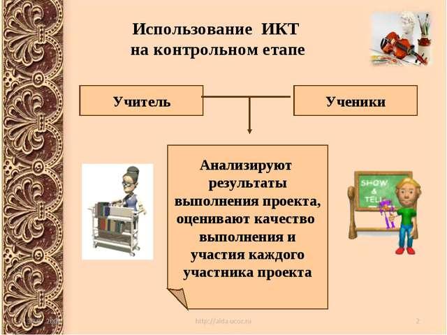 Использование ИКТ на контрольном етапе Учитель Ученики Анализируют результаты...