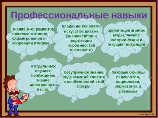 Профессиональные навыки знание инструментов, приемов и этапов формирования и