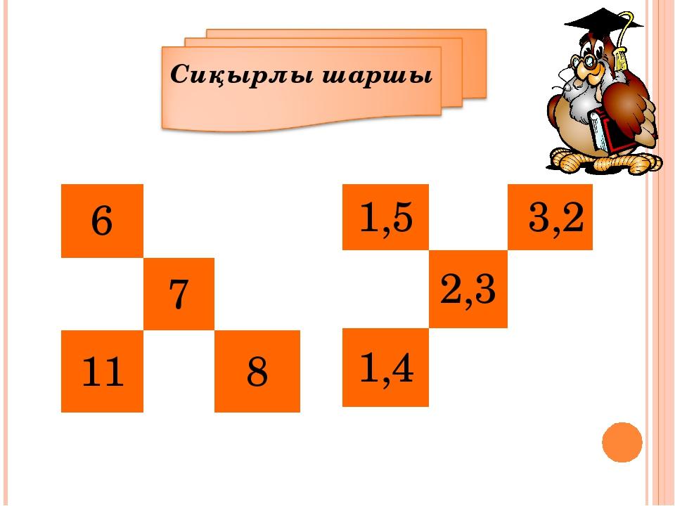 6 7 118 1,53,2 2,3 1,4