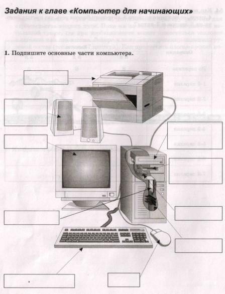 тренировочный тест к главе 2 первое знакомство с компьютером