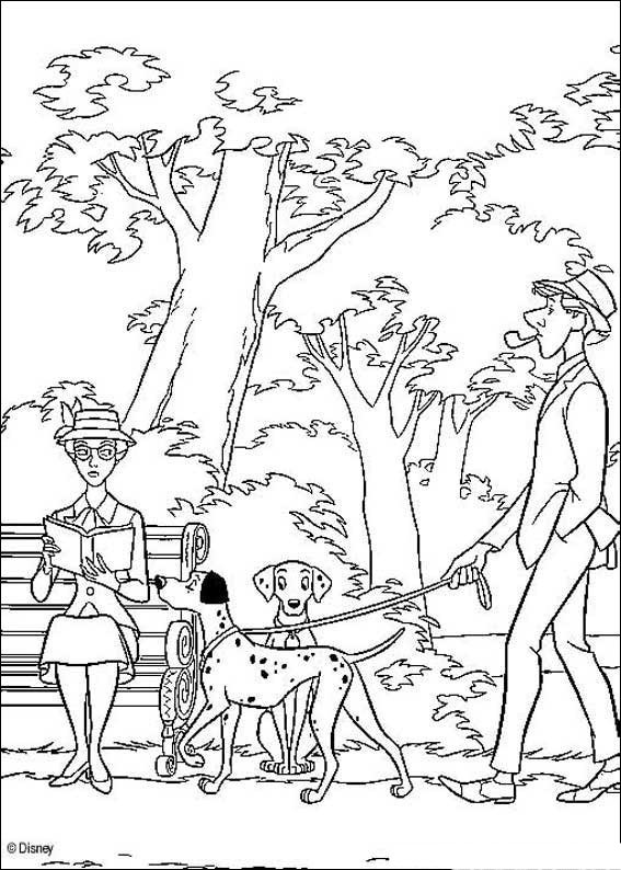 Раскраска детям: 101 Далматинец (40 шт.)