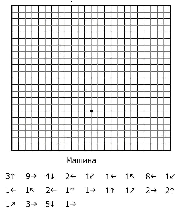 Рисунки по клеткам графический диктант