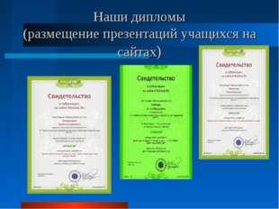 Наши дипломы (размещение презентаций учащихся на сайтах)