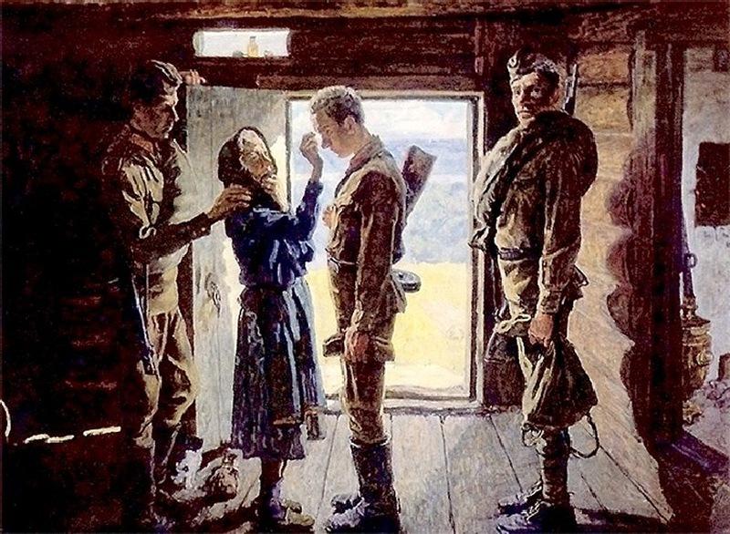 Gallery.ru / художники А.П. Ткачев, С.П. Ткачев - Картины советских художников2 - sinitza