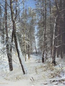 Иван Шишкин - Зима в лесу - Иней
