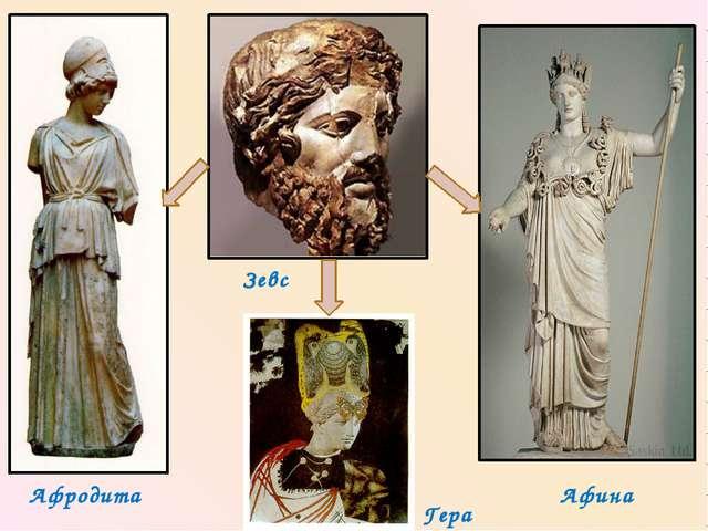 Афродита Гера Афина Зевс
