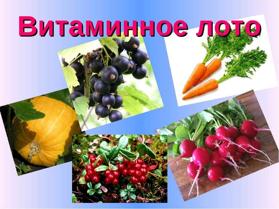 Витаминное лото