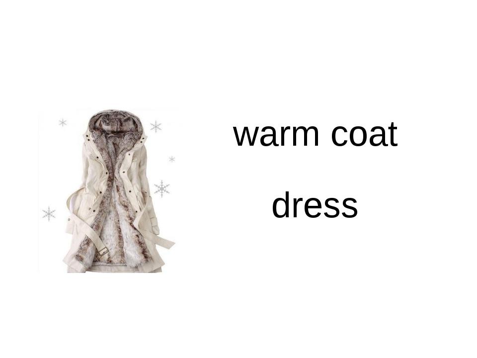 warm coat dress