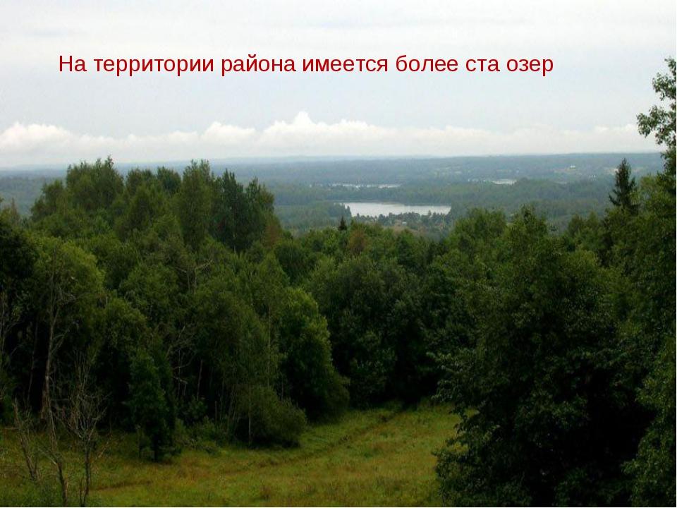 На территории района имеется более ста озер