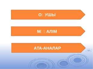 ОҚУШЫ МҰҒАЛІМ АТА-АНАЛАР