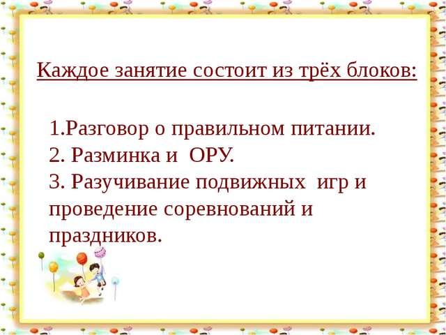 http://aida.ucoz.ru Каждое занятие состоит из трёх блоков: 1.Разговор о прав...