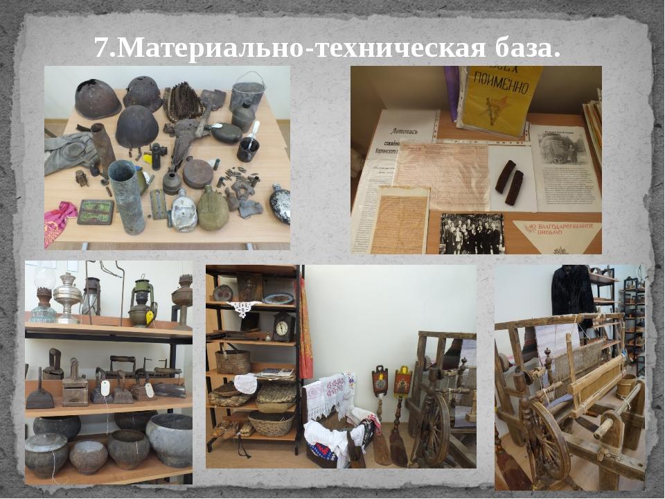 7.Материально-техническая база.