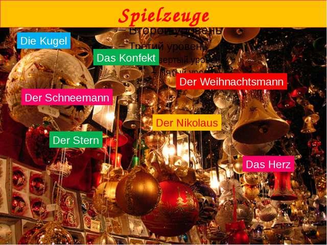 Die Kugel Das Konfekt Spielzeuge Der Weihnachtsmann Der Schneemann Der Nikol...