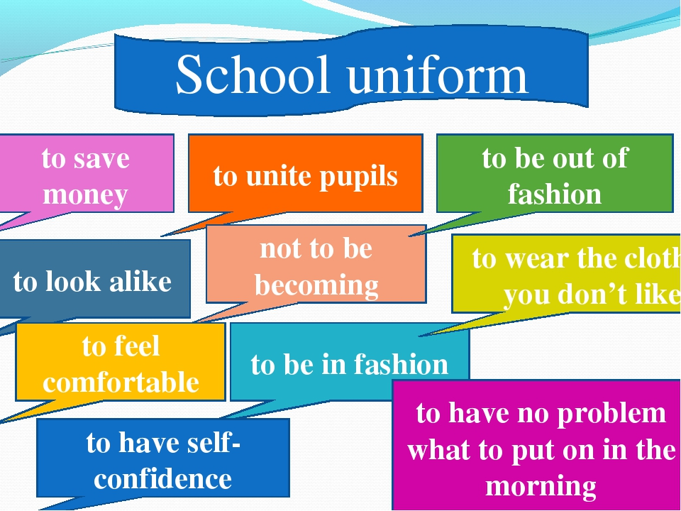 School uniform to unite pupils not to be becoming to save money to look alike...