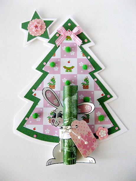Новогодние открытки своими руками с елкой