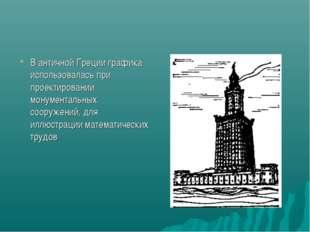 В античной Греции графика использовалась при проектировании монументальных со
