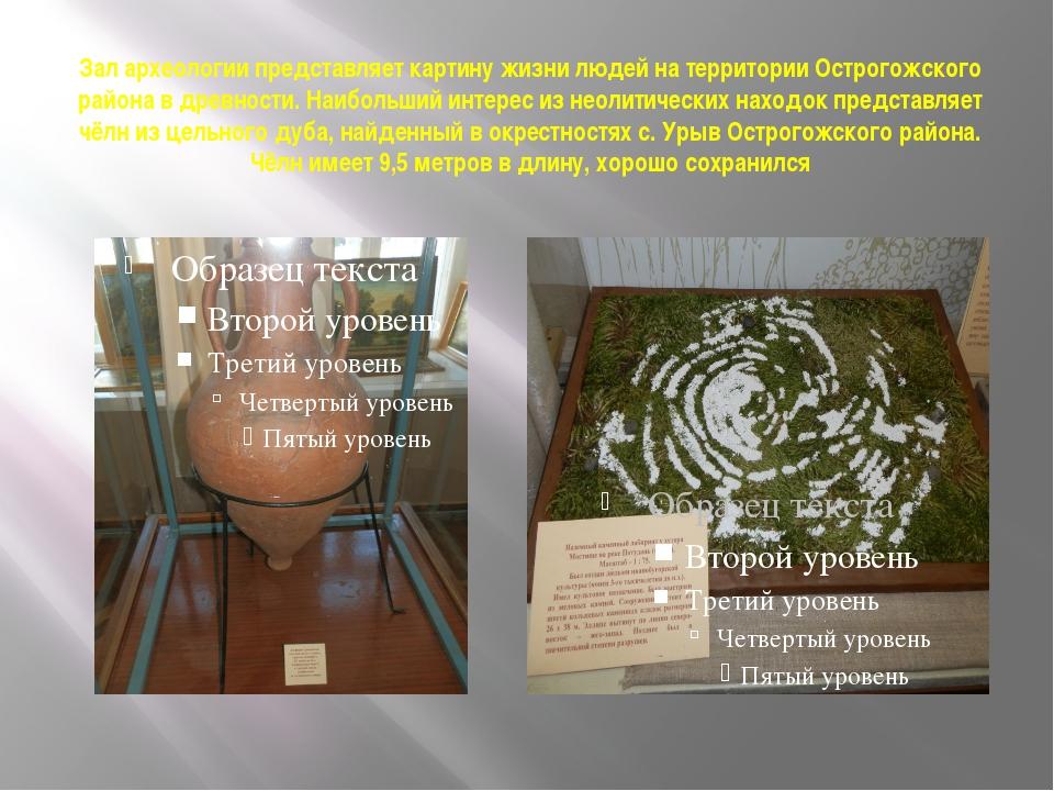 Зал археологии представляет картину жизни людей на территории Острогожского р...