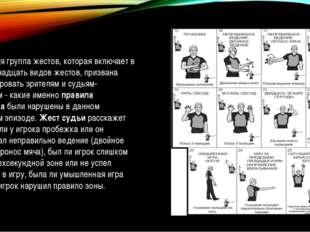 Следующая группа жестов, которая включает в себя одиннадцать видов жестов, пр