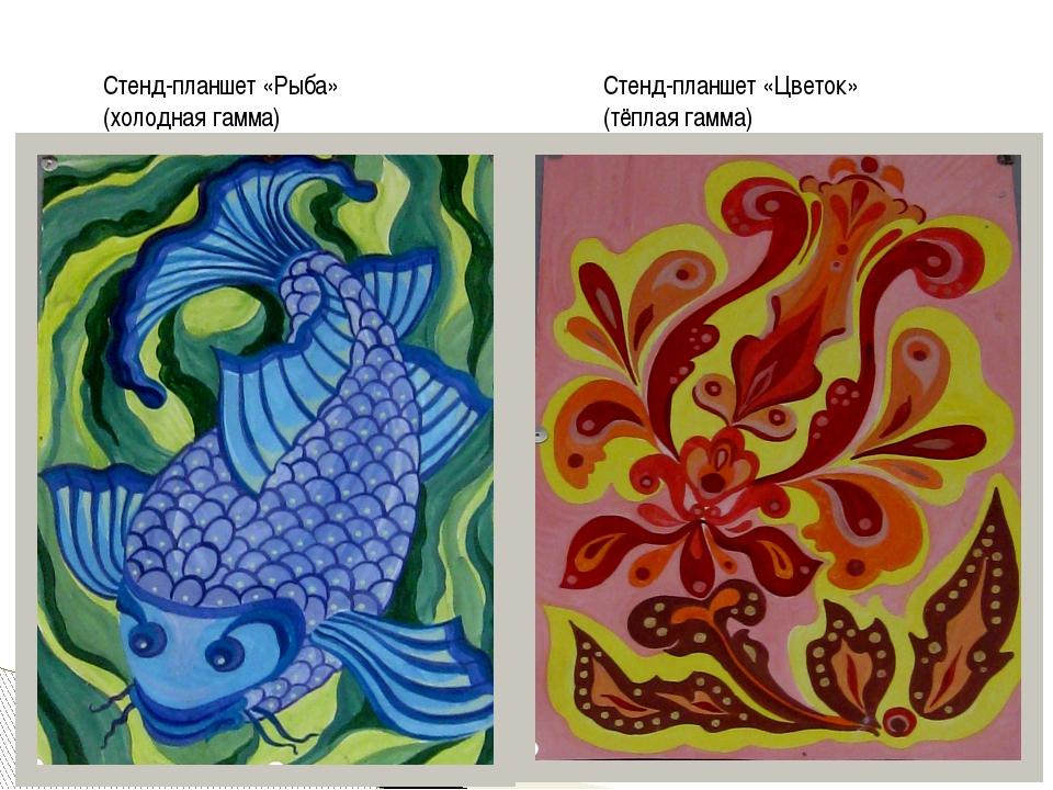 Стенд-планшет «Рыба» (холодная гамма) Стенд-планшет «Цветок» (тёплая гамма)