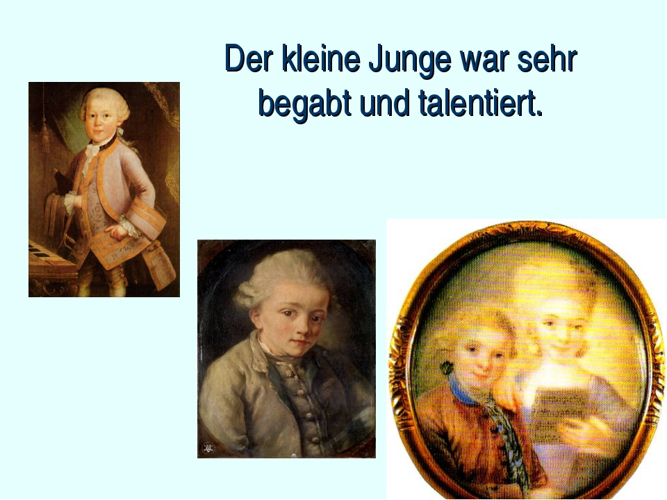 Der kleine Junge war sehr begabt und talentiert.