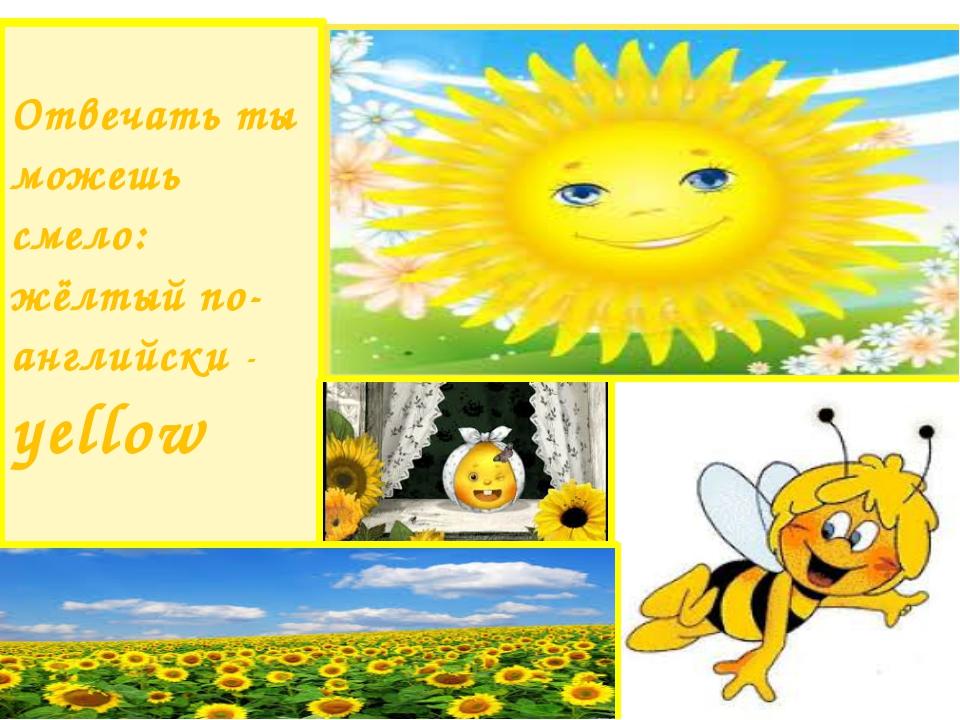 Отвечать ты можешь смело: жёлтый по-английски - yellow
