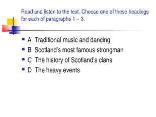Read and listen to the text. Choose one of these headings for each of paragra